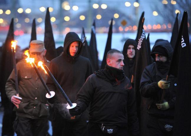 Neonazi-Demo in Dresden